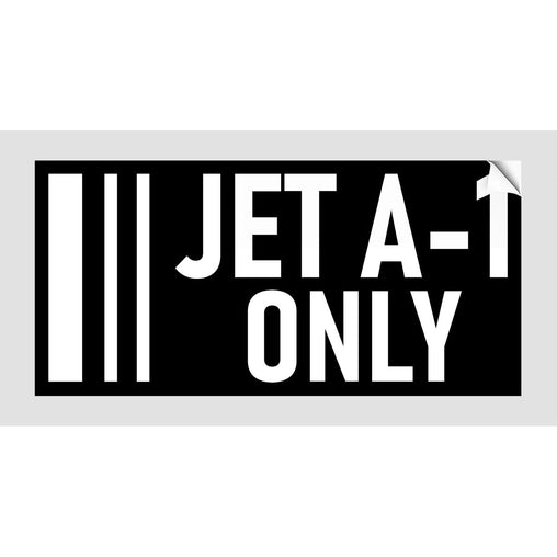JET A1 ONLY Sticker