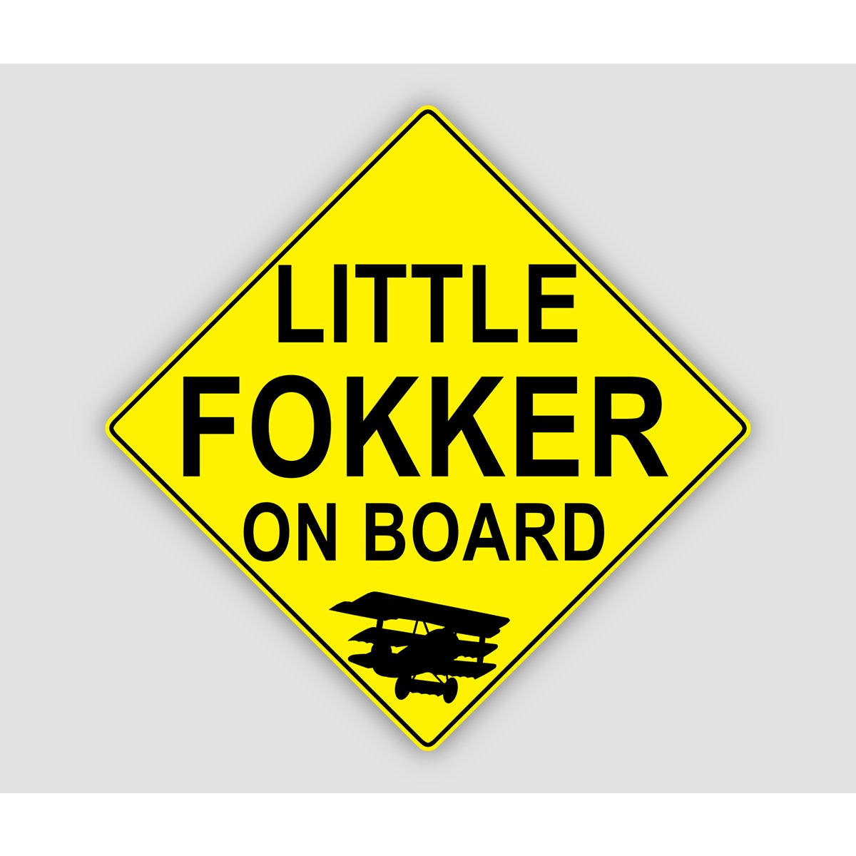 LITTLE FOKKER ON BOARD Sticker