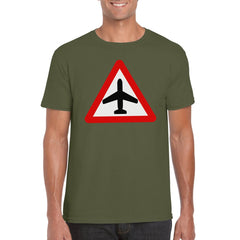 CAUTION AIRCRAFT Semi-Fitted Unisex T-Shirt