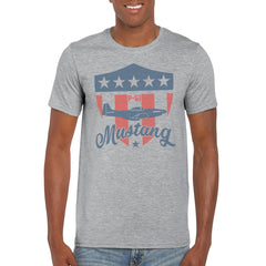 SHIELD P51 MUSTANG Semi-Fitted Unisex T-Shirt