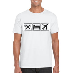EAT SLEEP FLY Semi-Fitted Unisex T-Shirt