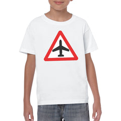 CAUTION AIRCRAFT Youth Semi-Fitted T-Shirt