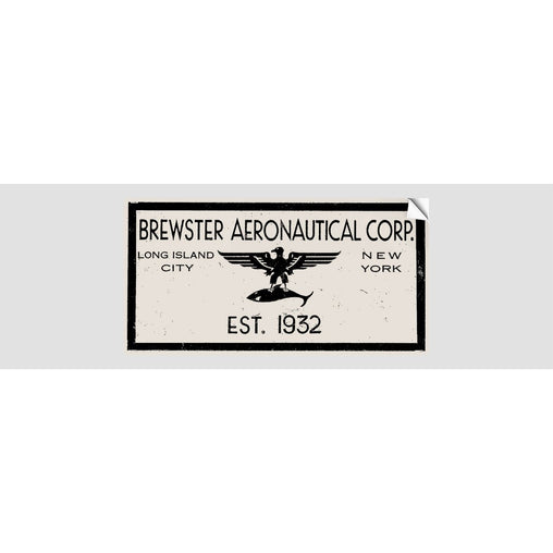BREWSTER AERONAUTICAL CORP Sticker
