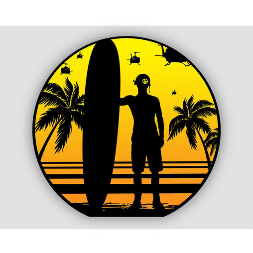 CHARLIE DON'T SURF STICKER