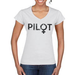 Women's Pilot semi-fitted V-neck T-Shirt