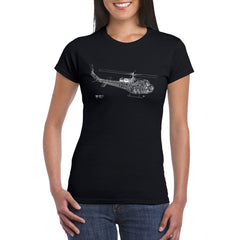 HUEY CUTAWAY Women's Semi-Fitted T-Shirt