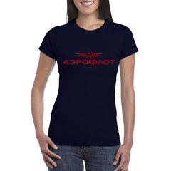 AEROFLOT T-Shirt Women's Semi Fitted.