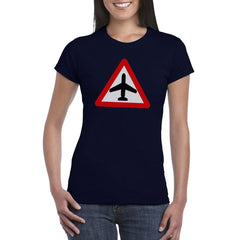 CAUTION AIRCRAFT Semi-Fitted Women's T-Shirt