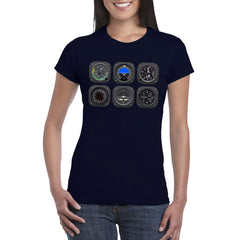 THE PILOT'S 6 PACK Women's Semi-Fitted T-Shirt