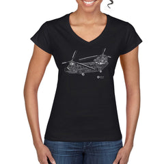CHINOOK CUTAWAY Woman's Semi-Fitted V Neck T-Shirt