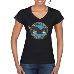 PRATT AND WHITNEY Women's V-Neck T-Shirt