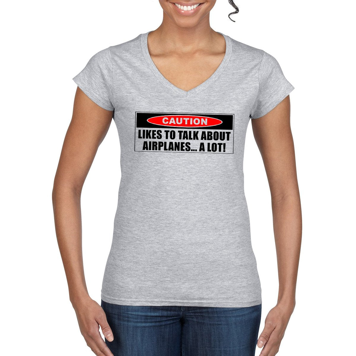 CAUTION Women's Semi-Fitted T-Shirt
