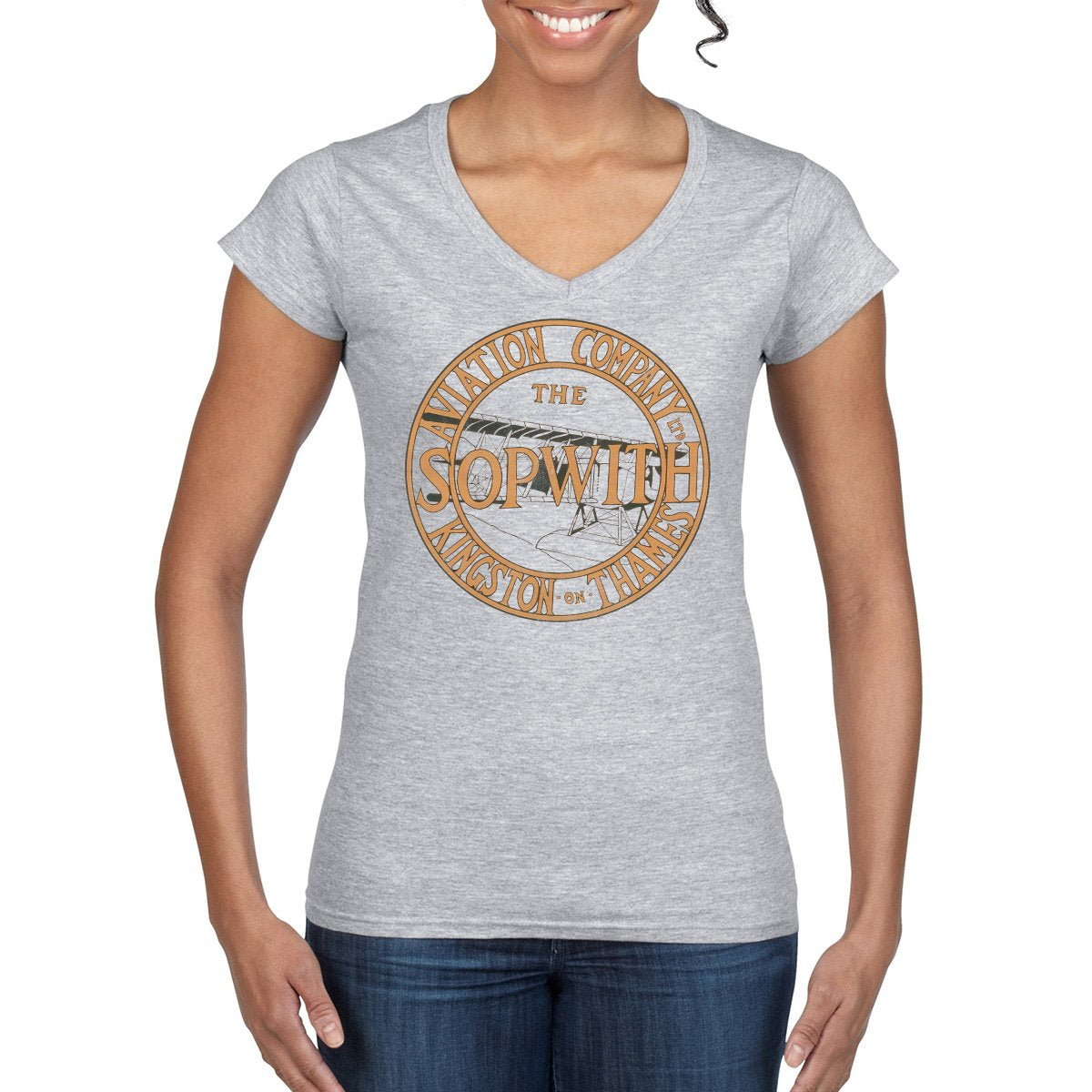 SOPWITH AVIATION COMPANY Semi-Fitted T-Shirt