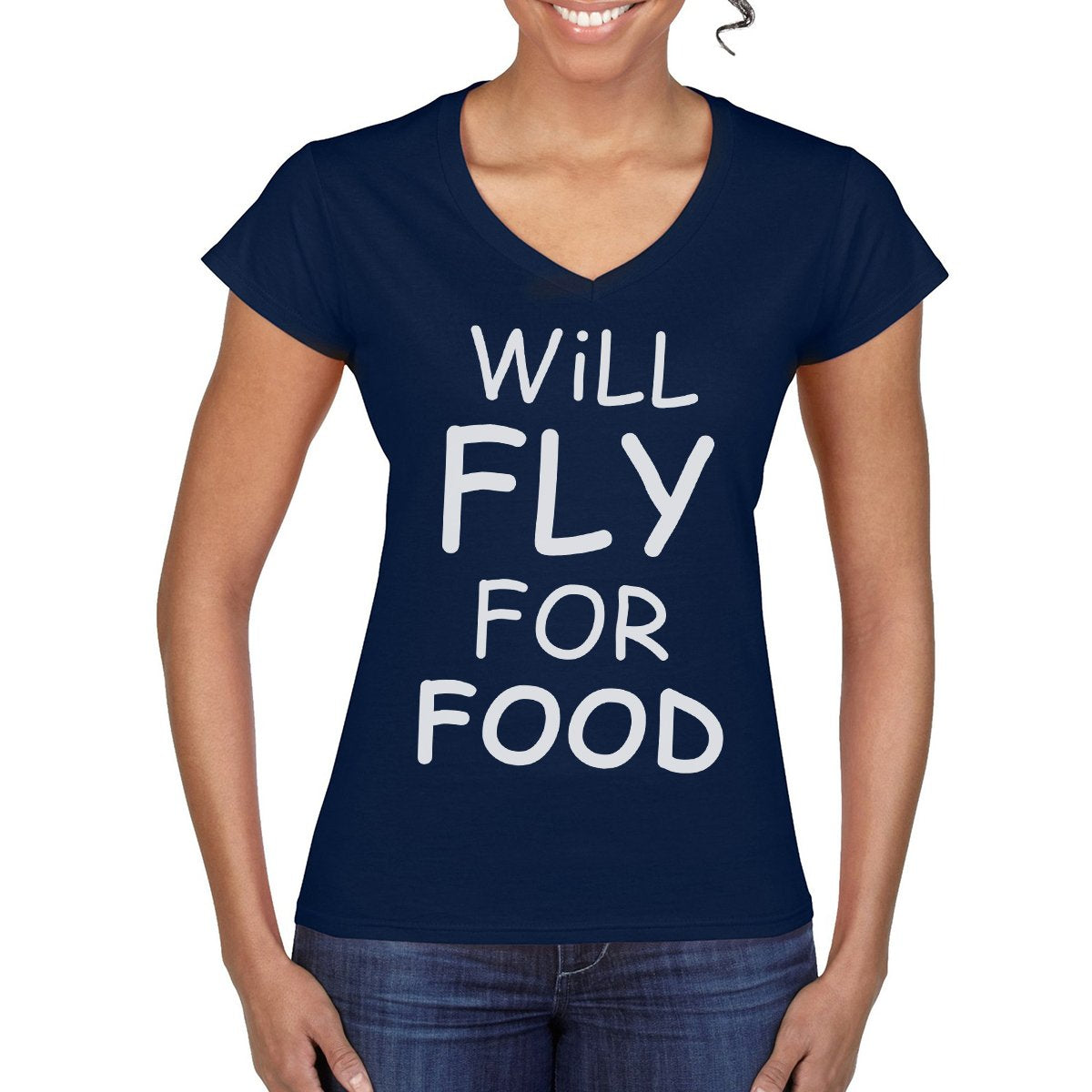 WILL FLY FOR FOOD Women's Semi-Fitted T-Shirt