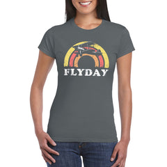 FLYDAY Semi-Fitted Women's V-Neck T-Shirt
