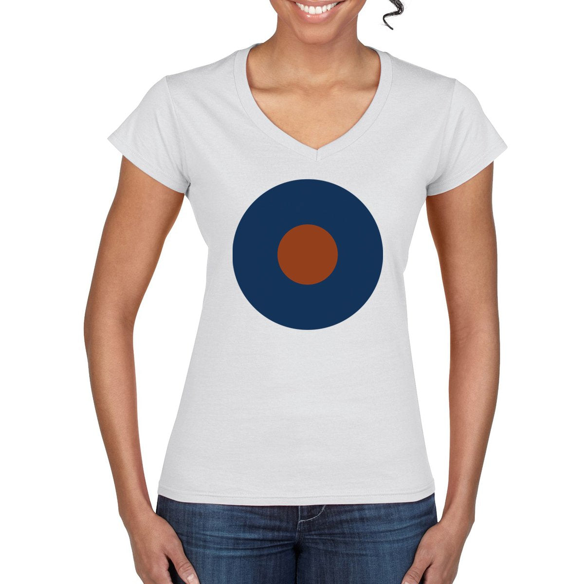RAF TYPE B ROUNDEL Women's V-Neck T- Shirt