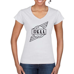 BELL AIRCRAFT Vintage Logo Design on Women's T-Shirt