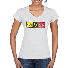 AV8R Women's V Neck Semi-Fitted T-Shirt
