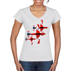 ROULETTE FORMATION Women's Semi-Fitted T-Shirt