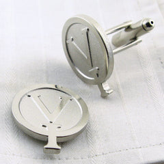 embossed logo cufflinks