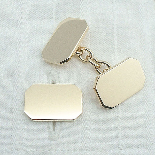 rectangle 9ct gold cufflinks
