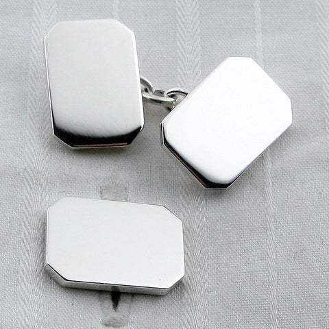 Rectangle chain cufflinks