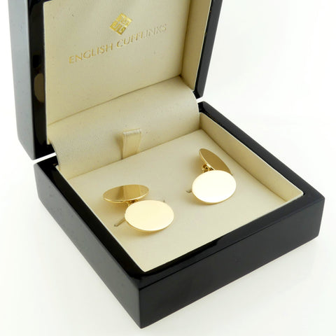 Classic 9ct Gold Oxford chain Cufflinks