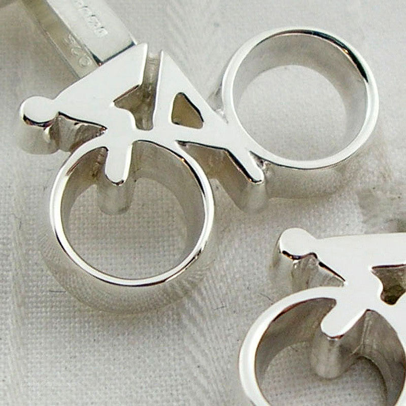 bicycle cufflinks close-up