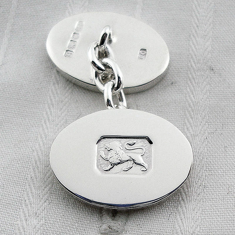 Lion mark chain cufflinks