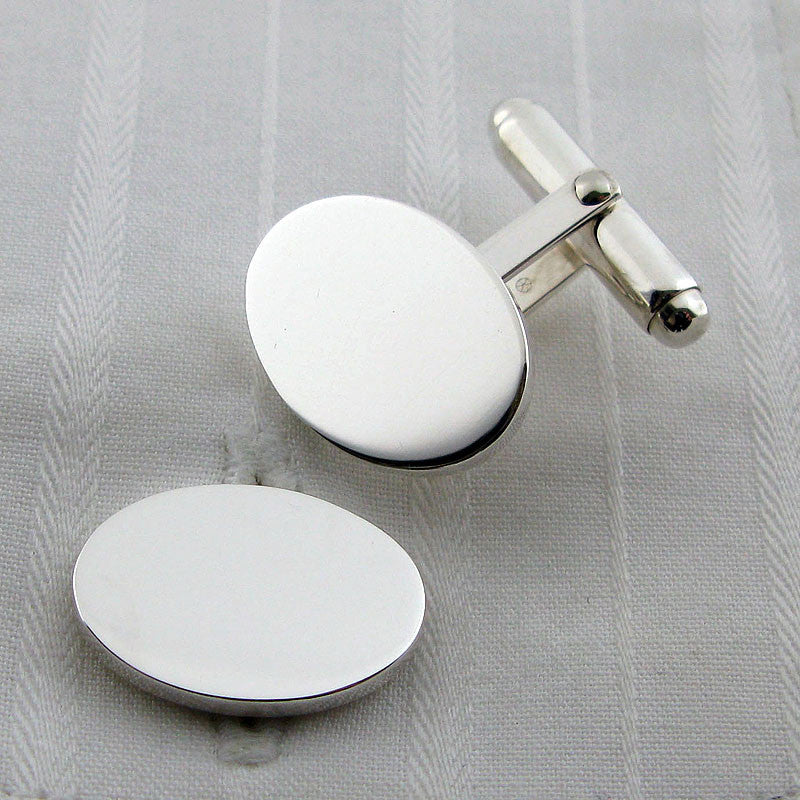Oval swivel cufflinks