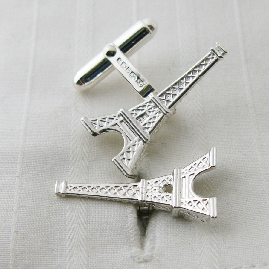 Eiffel Tower silver cufflinks
