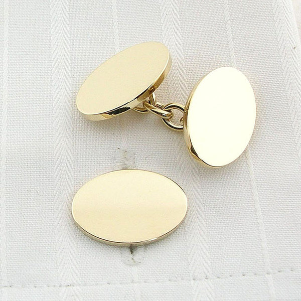 9ct gold chain cufflinks