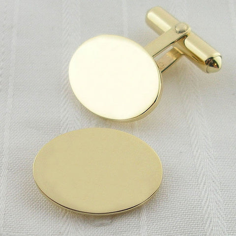 9ct oval swivel cufflinks