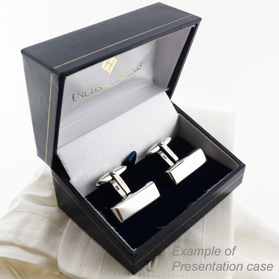 Black hinged cufflink box