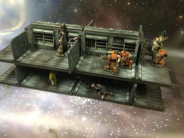 lv427-designs.com combatzone scenery.uk - Corridor Towers Starter Set-1