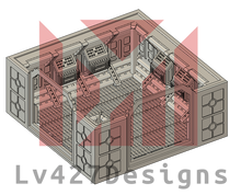Load image into Gallery viewer, Lv427-designs - Sci Fi Corridor Terrain - Long Vent STL