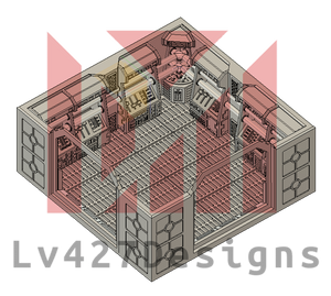 Lv427-designs - Sci Fi Corridor Terrain - 2-way