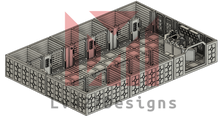 Load image into Gallery viewer, Lv427-designs - Sci Fi Corridor Terrain - Detention Cell Block STL