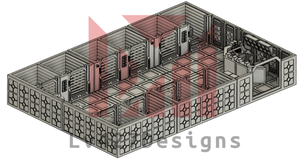 Lv427-designs - Sci Fi Corridor Terrain - Detention Cell Block STL