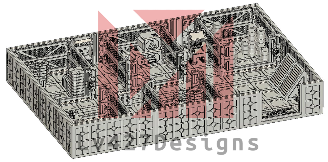 secured storage bay - lv427-designs.com-sci fi modular corridor terrain-1