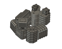 Load image into Gallery viewer, lv427-designs.com modular sci fi terrain - cargo stack-1