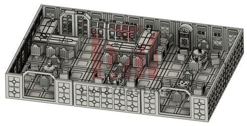 Lv427-designs - Sci Fi Corridor Terrain - Large Bar STL File