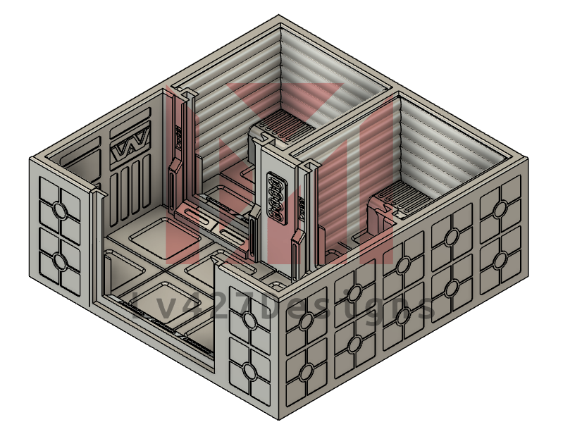Lv427-designs - Sci Fi Corridor Terrain - Small Security Cell STL