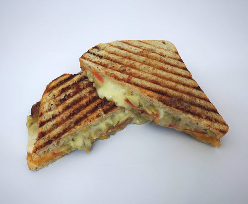 RBG *Heat at Home* Veggie Grilled Cheese Panini Sandwich