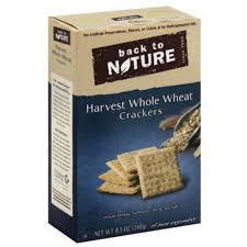 Back To Nature Harvest Whole Wheat Crackers 8.5 oz.