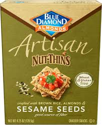 Blue Diamond Artisan Nut Thins Sesame Seeds 4.25 oz.