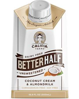 Califia Better Half Coconut and Almond Creamer 16.9 oz