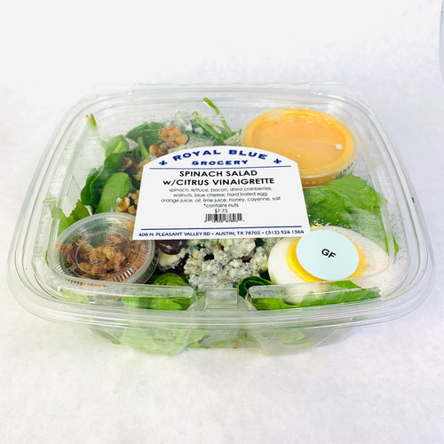Royal Blue Kitchen Spinach Salad
