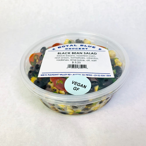 Royal Blue Kitchen Black Bean Salad- Multiple Sizes Available!