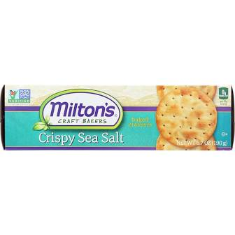 Milton's Crispy Sea Salt Crackers 6.7 oz.